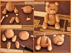 oso viejo porcelana fria polymer clay pasta francesa masa flexible