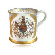 Diamond Jubilee Tankard - so beautiful! Royal Collection Trust, Good China, Blue Back, My Heritage, Queen Elizabeth Ii, Drinking Tea, Tea Party, Tea Cups, Mugs