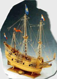 Half Moon Ship Model