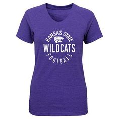 Gen2 Girls' Kansas State University Full Circle V-neck T-shirt (Purple, Size Small) - NCAA Licensed Product, NCAA Youth Apparel at Academy Sports