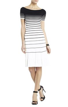 Agnese Gradient Stripe Dress | BCBG