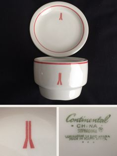 Continental China bowl and plate made for the Carlton Hotel Johannesburg SA