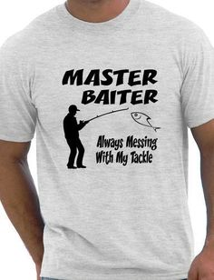 Grab your Discounted Fishing T-Shirt Master Baiter Funny Mens while the store LAUNCH DISCOUNT is on.