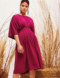 Pintuck Waist Midi Dress | Women's Plus Size Dresses | ELOQUII