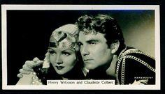 Cigarette Card - Henry Wilcoxson & Claudette Colbert
