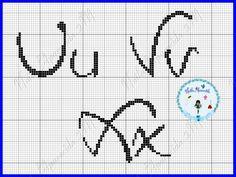 Quirky alphabet Uu Vv Xx