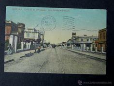 antigua postal, habana, calle 17 en el vedado, circulada (Postales - Postales Extranjero - América - Cuba)