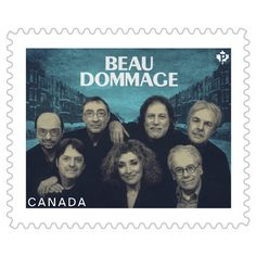 This stamp featuring Beau Dommage is the latest issue in Canada Post's ongoing… Buy Stamps, Canada Post, Postage Stamps, Booklet, Movie Posters, Coins, Stamps, Showgirls, Canadian Artists