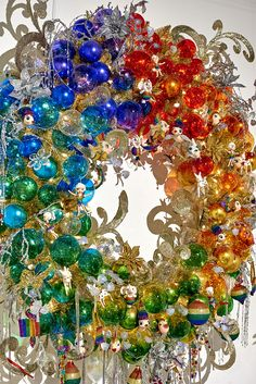 Over the Rainbow decorated wreath by Goodwill Christmas Mantels, Christmas 2016, All Things Christmas, Christmas Themes, Christmas Wreaths, Christmas Crafts, Christmas Decorations, Xmas, Christmas Wonderland