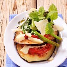 Eggplant Tomato Melt.  No dairy.  Simple whole ingredients.