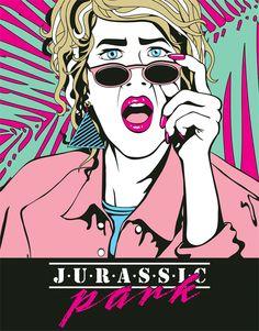 """ee9dd0661647c If """"Jurassic Park"""" Was an Film… """"NagelSattler"""" digital art print for  Brandon Bird s JP Art Show. (by Tyler Jacobs)"""