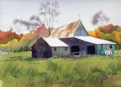 Barn in Fall-Print