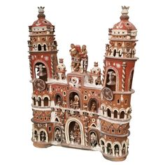 Fabulous Ceramic Giant South American Craft Cathedral | From a unique collection of antique and modern ceramics at http://www.1stdibs.com/furniture/folk-art/ceramics/