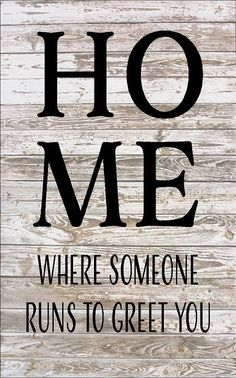 HOME where someone runs to greet you - pet lover Large Wood Sign, Canvas Wall Hanging, Canvas Banner - Christmas, Birthday, Pets by HeartlandSigns on Etsy