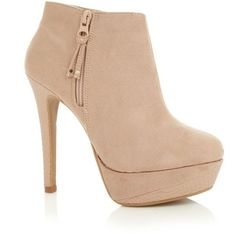 Nude Snake Platform Ankle Boots (17 AUD) ❤ liked on Polyvore featuring shoes, boots, ankle booties, heels, sapatos, zapatos, heeled ankle booties, platform booties, heeled ankle boots and denim boots
