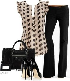 Classy Spring & Summer Work Outfit by Fashionista Trends~Add a cardigan for comfort! Office Outfits, Casual Outfits, Cute Outfits, Fashion Outfits, Work Outfits, Office Attire, Office Wear, Dot Office, Outfits 2016