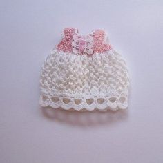 Handmade knitted dress for miniature baby doll #RB227