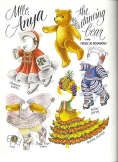 Bears paper dolls 60