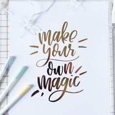 Make your own magic handlettering