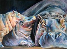 hippo-acrylic on canvas