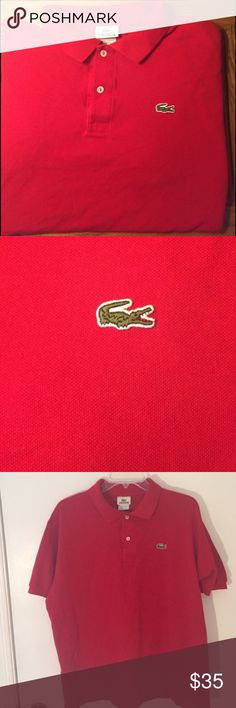 Men's Lacoste Red Polo Shirt - Large Great condition. Men's red polo shirt. Lacoste Shirts Polos