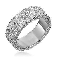Channel Set Round Cut Milgrain Diamond Eternity Ring Genesis