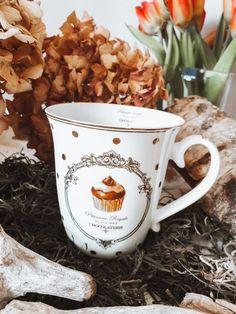 "7,95 €  Teetasse ""Muffinmotiv"" Vintage Stil, Mugs, Tableware, Chocolate Factory, Teacup, Dinnerware, Tumblers, Tablewares, Mug"