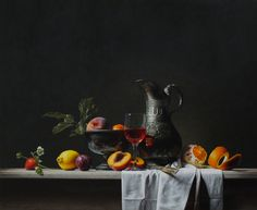 Roman Reisinger, Still life with can and fruit