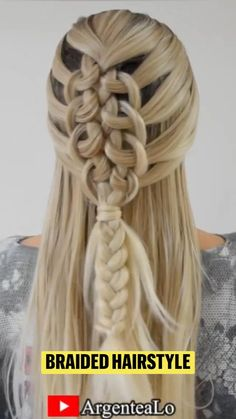 Easy Hairstyles For Long Hair, Dress Hairstyles, Braids For Long Hair, Ponytail Hairstyles, Pretty Hairstyles, Braided Hairstyles Tutorials, Updo, Hair Up Styles, Medium Hair Styles