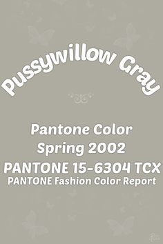 Pantone Willow Gray Color Wheel