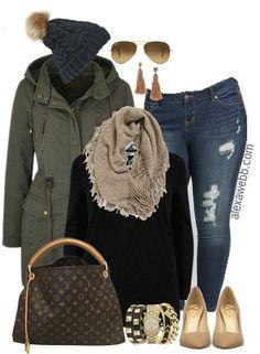 Plus Size Casual Mix Outfit - Plus Size Fashion for Women - Plus Size Outfit Ideas - alexawebb.com #alexawebb