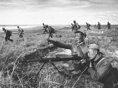 Mongolian People's Army soldiers fight against Imperial Japanese soldiers. Khalkhin Gol, 1939.