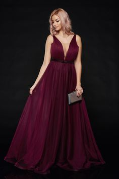 Ana Radu occasional net purple dress with v-neckline bow accessory Tulle Bows, Bow Accessories, Fabric Textures, Product Label, Tie Backs, Purple Dress, Neckline, Formal Dresses, Interior