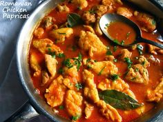 Home Cooking In Montana: Romanian Chicken Papricas. chicken with tomato sauce and dumplings. One Pot Meals, No Cook Meals, Chuck Chicken, Real Food Recipes, Chicken Recipes, Yummy Food, European Cuisine, Romanian Food, Dumpling Recipe