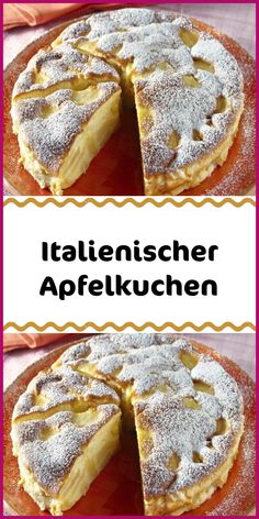 Italian apple pie - Ingredients 5 apple sour 100 g butter liquid 2 medium eggs 250 g sugar 1 pack vanilla sugar 100 g w - Easy Cookie Recipes, Cake Recipes, Dessert Recipes, Apple Pie Ingredients, Butter Ingredients, Chocolate Cake Recipe Easy, Peanut Butter Cookie Recipe, New Cake, Cakes And More
