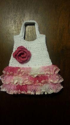 #Crochet ruffle handbag purse #Crochet #Tutorial