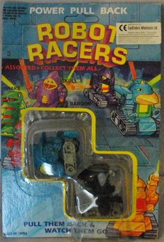"""ROBOT RACERS - Bird & Baboon Power Pull Back 2"""" Action Toys MOC RARE!!!"""