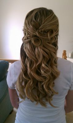 Grace's hair for the wedding?
