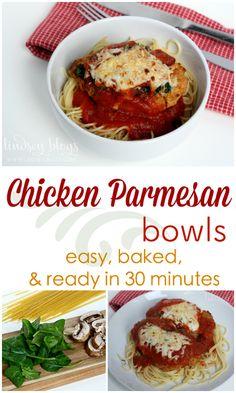 Chicken Parmesan Bowls Pin