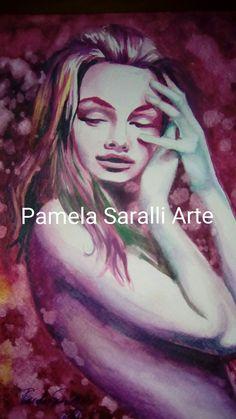 #ritrattofemminile #figura #acquerello #disegno #espressionistico #realistico #pintura #pittura #arte #artes #art