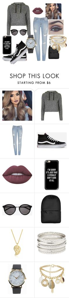 """""""my day"""" by dubstepfreak on Polyvore featuring Topshop, Vans, Lime Crime, Bellezza, Casetify, Yves Saint Laurent, Rains, Sonal Bhaskaran, Charlotte Russe and NLY Accessories"""