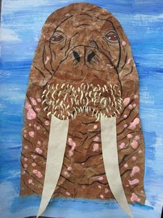 Paper Bag Walrus Collage