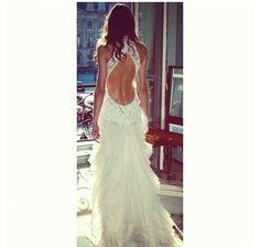 Backless wedding dress.....stunning