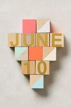 Anthropologie Month & Day Woodblock Calendar