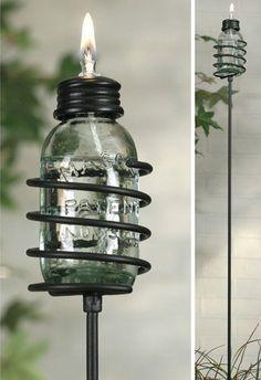 diy oil lantern