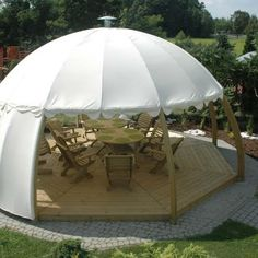 Summer Igloos, Hanging Tent Swing Chairs and Fire Pits from Spa Living.