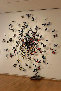 Vinyl record butterflies make beautiful wall art.