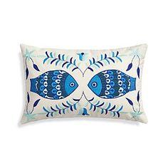 """Pesce 20""""x13"""" Pillow"""