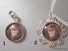 Picture cabochons made to order clip on, brooch backs, ties or chains with pendants prices vary from £4