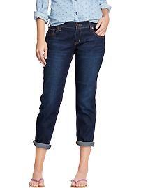 Recortada Jeans Boyfriend flacos de las mujeres